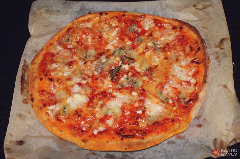 Сырная пицца - результат