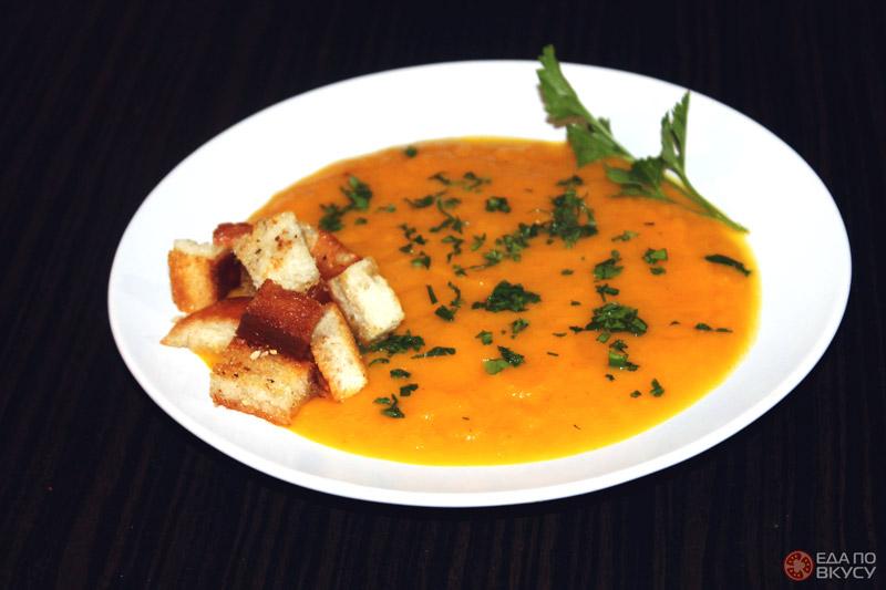 Суп пюре из тыквы без сливок - результат