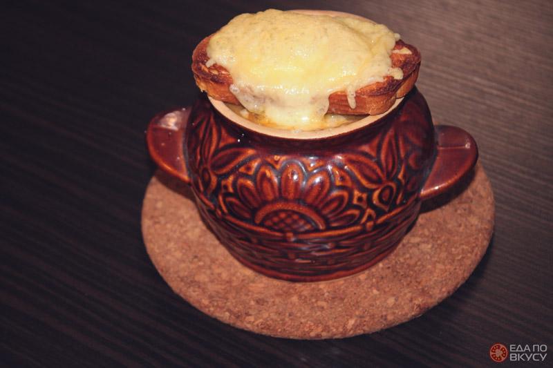 Луковый суп без вина - результат